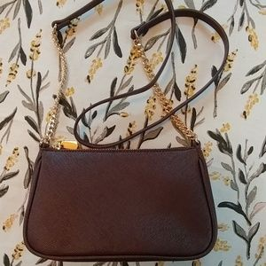 H&M Maroon Crossbody Purse Bag Gold Chain